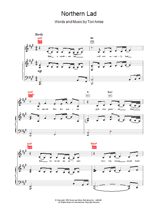 Northern Lad sheet music