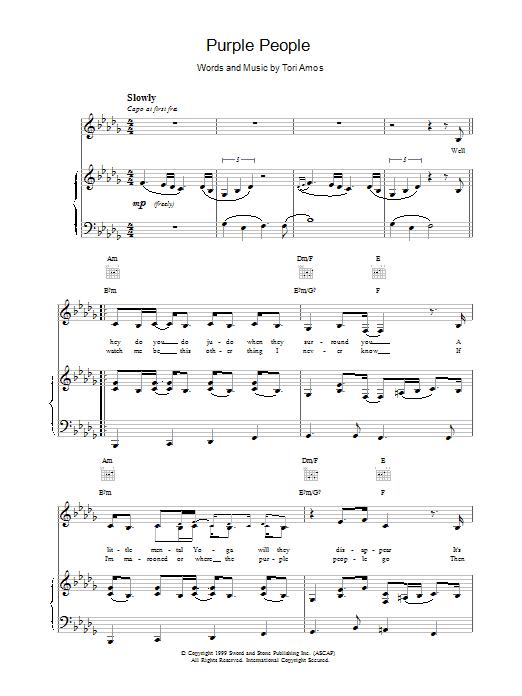 Purple people sheet music