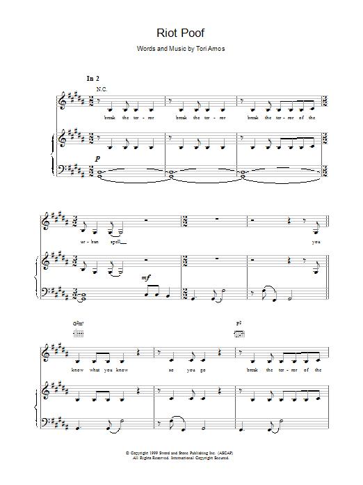 Riot Poof sheet music