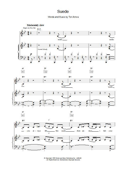Suede sheet music