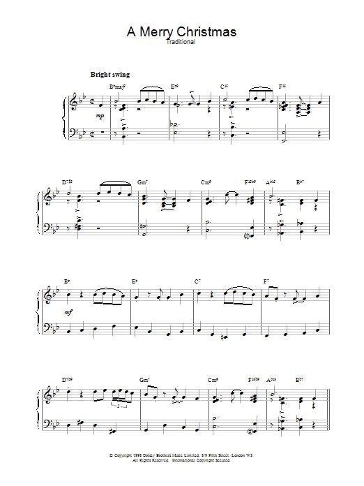 A Merry Christmas sheet music