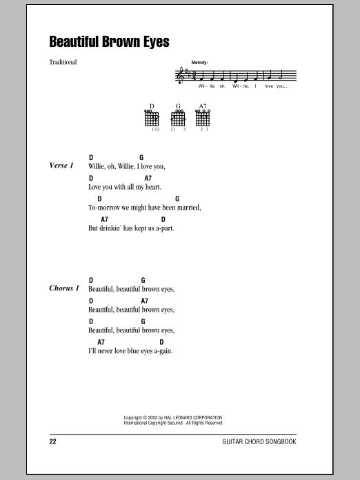 Beautiful Brown Eyes sheet music