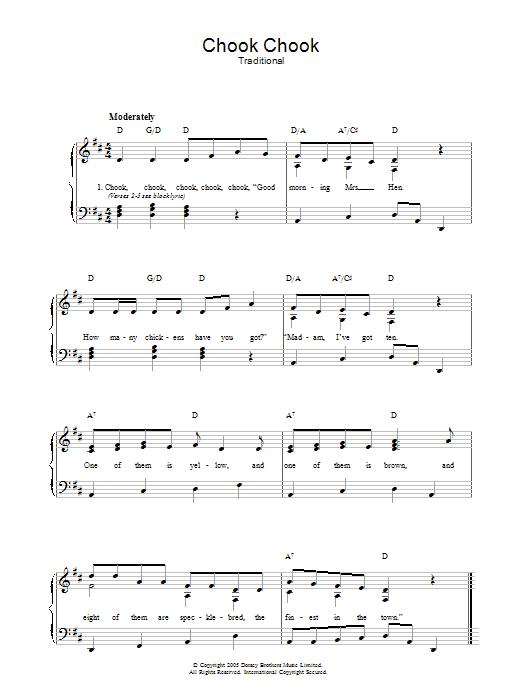 Chook Chook sheet music