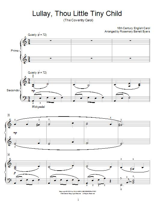 Coventry Carol sheet music