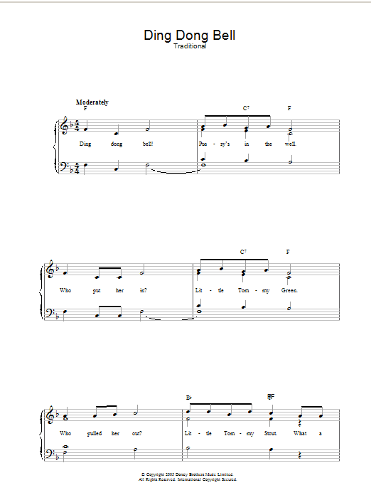 Ding Dong Bell sheet music