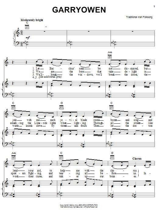Gary Owen sheet music