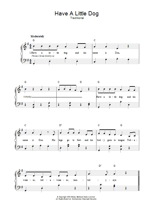 Have A Little Dog sheet music