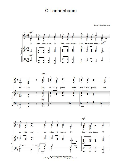 O Christmas Tree (O Tannenbaum) sheet music