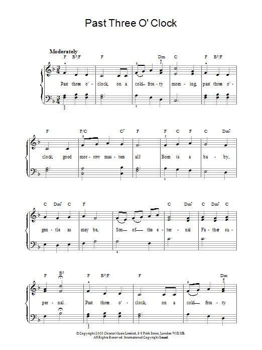 Past Three O' Clock sheet music