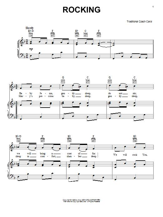 Little Jesus (Rocking Carol) sheet music