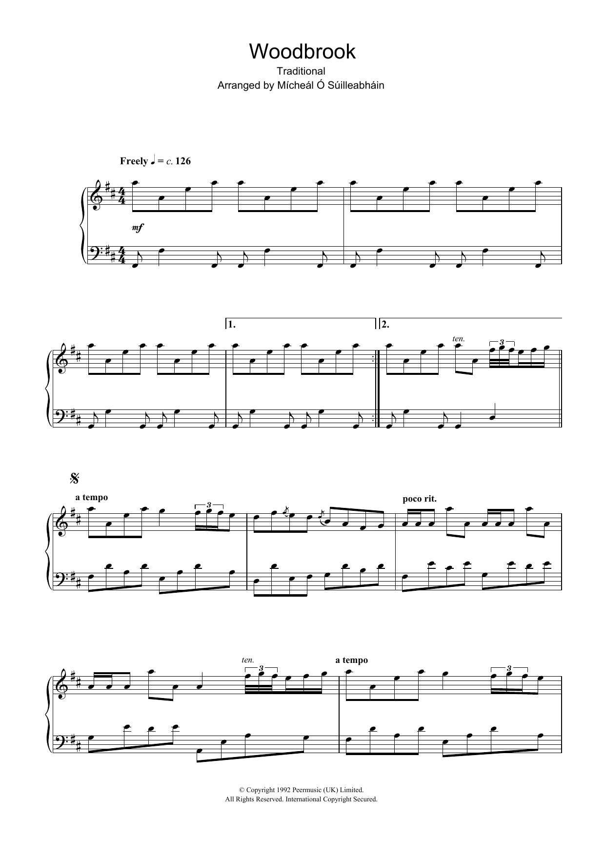 Woodbrook sheet music