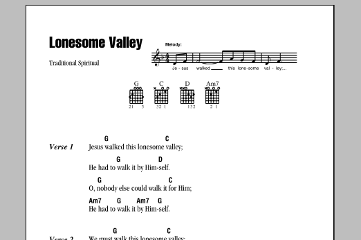 Lonesome Valley sheet music