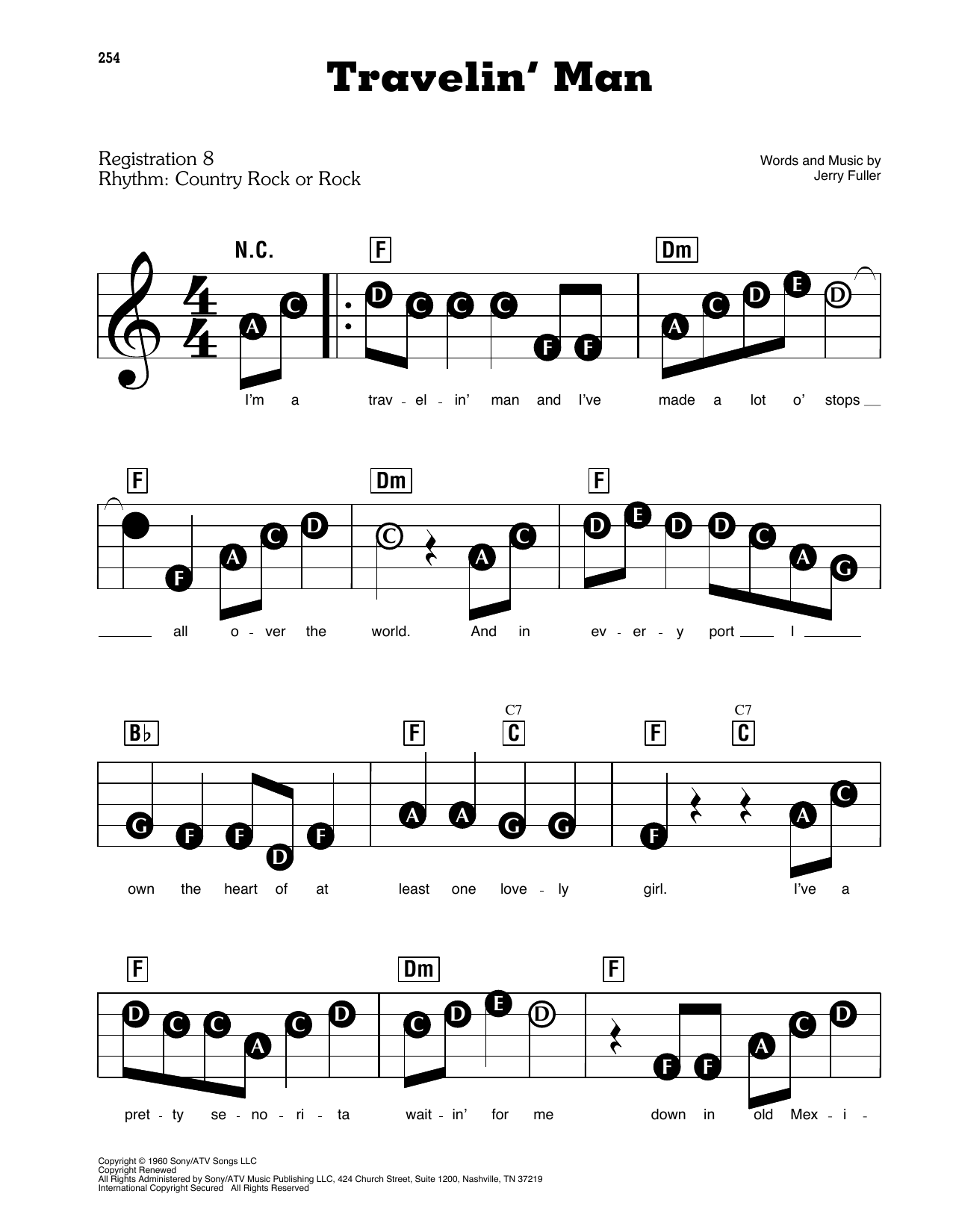 Travelin' Man sheet music