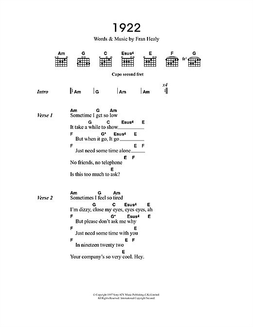 1922 sheet music