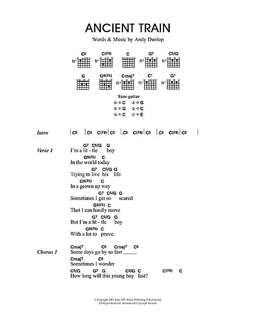 Ancient Train sheet music