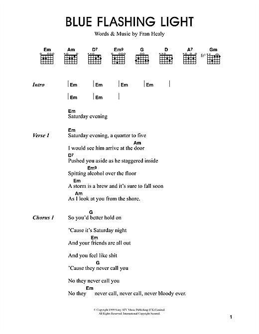 Blue Flashing Light sheet music