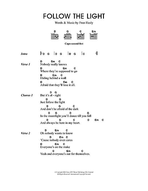 Follow The Light sheet music