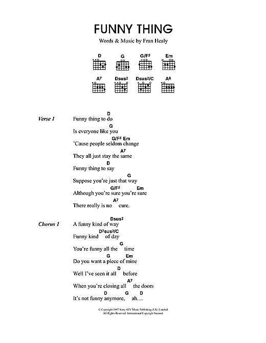 Funny Thing sheet music
