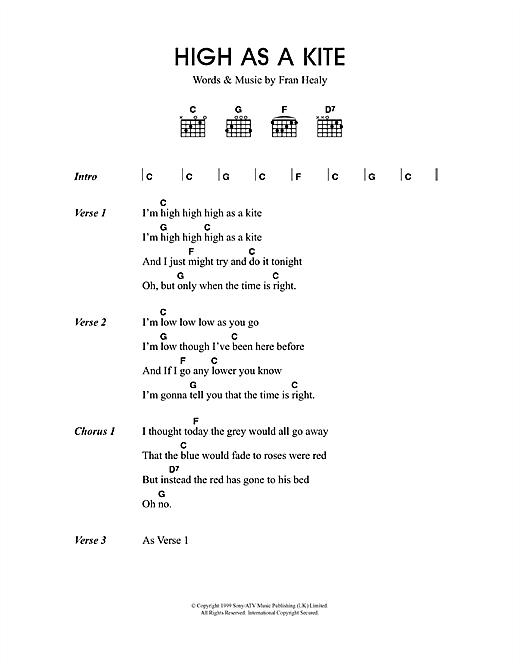 High As A Kite sheet music