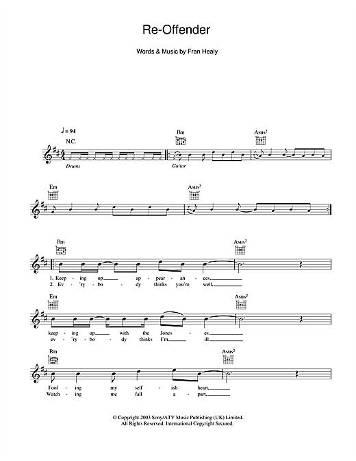 Re-Offender sheet music