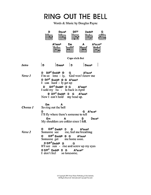 Ring Out The Bell sheet music