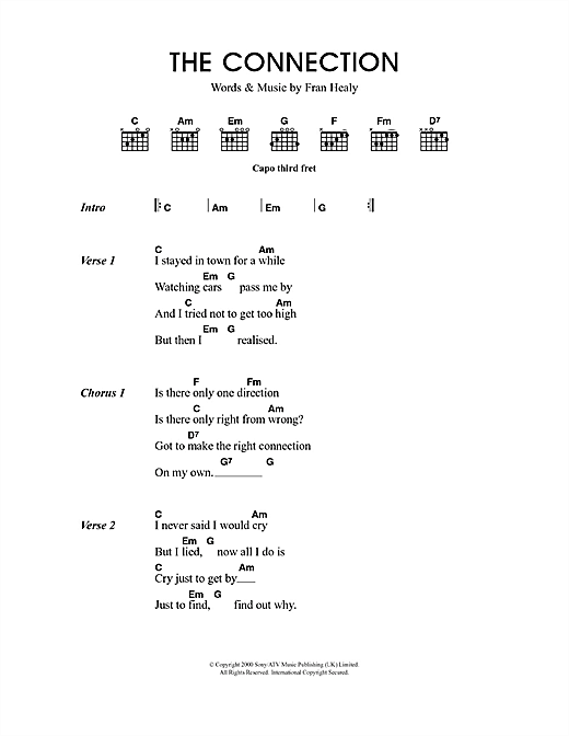 The Connection sheet music