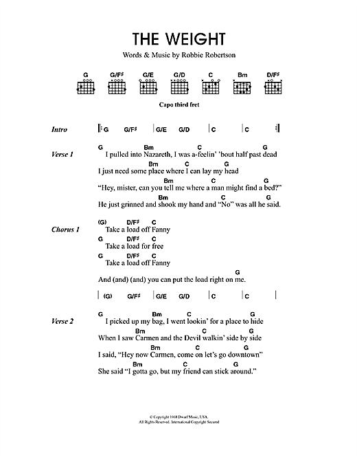 The Weight sheet music