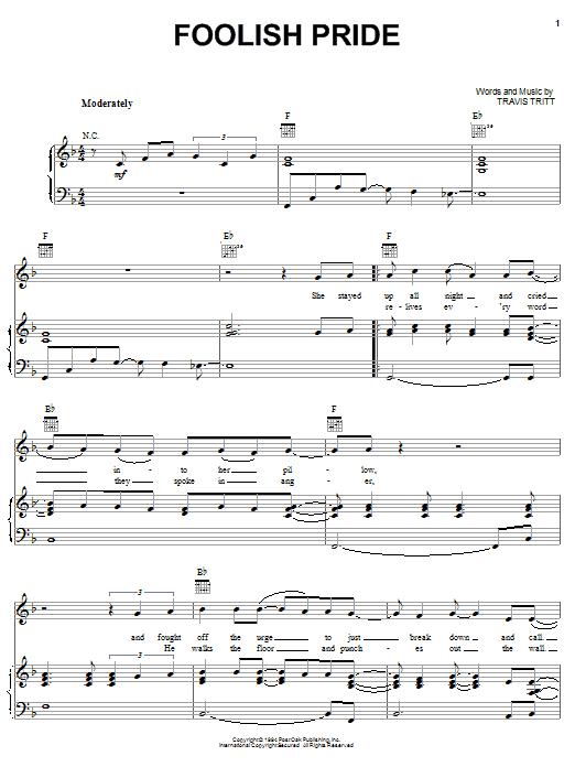 Foolish Pride sheet music