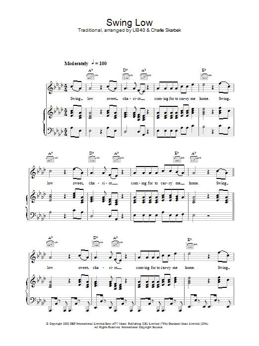 Swing Low sheet music
