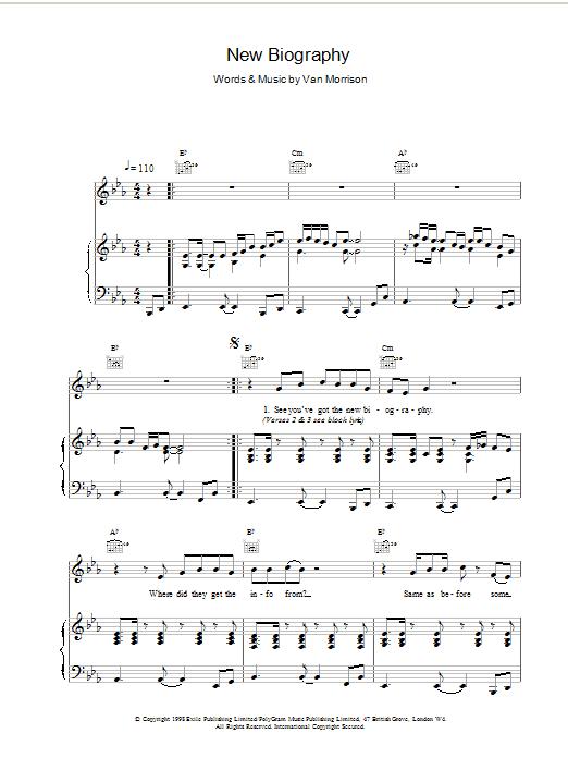 New Biography sheet music
