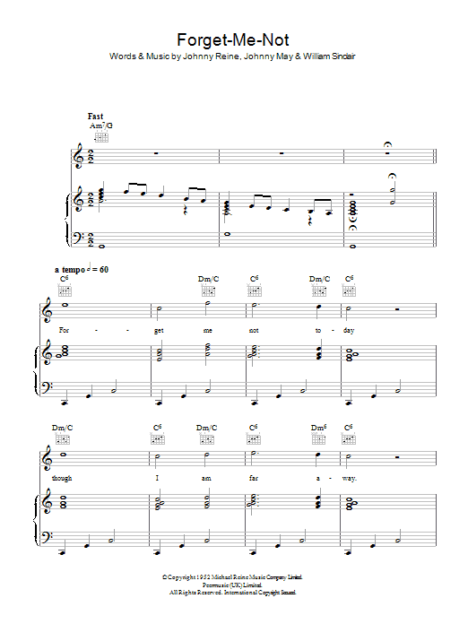 Forget-Me-Not sheet music