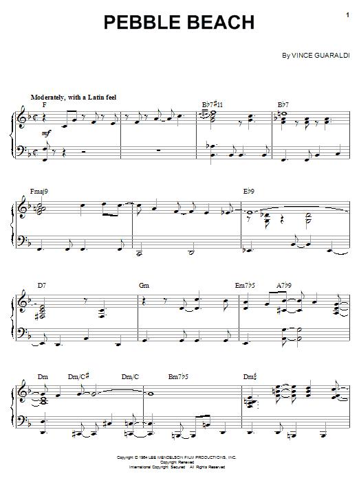 The Pebble Beach Theme sheet music