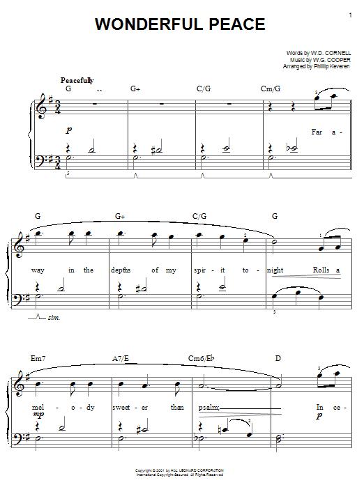Wonderful Peace sheet music