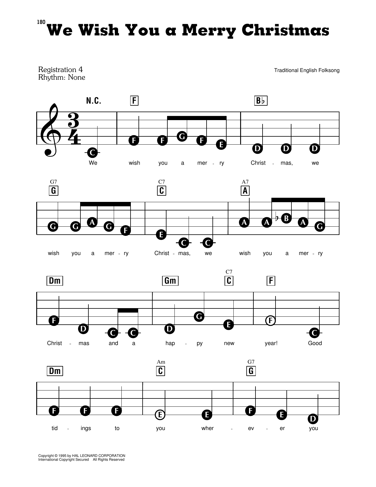 Christmas Carol We Wish You A Merry Christmas Sheet Music Download Pdf Score 415719