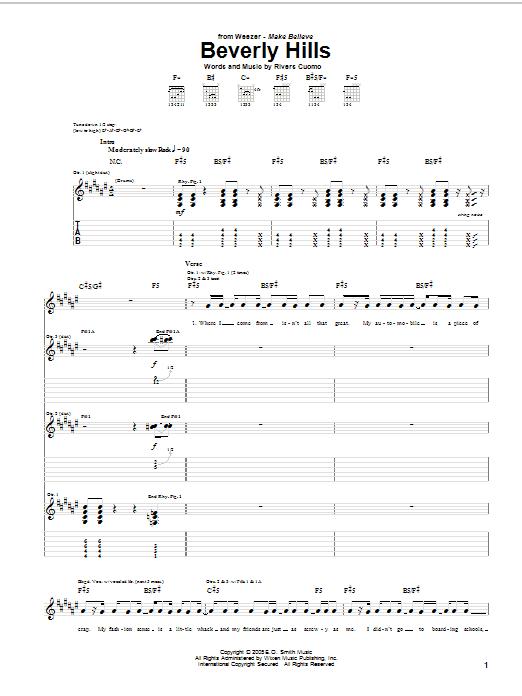 Beverly Hills sheet music