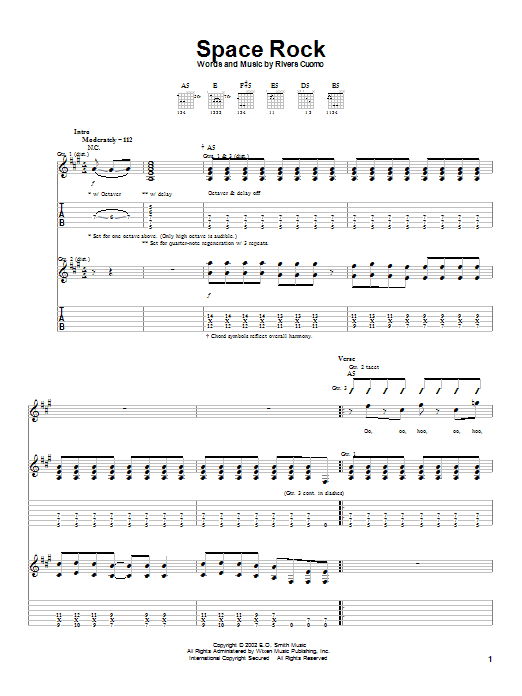Space Rock sheet music