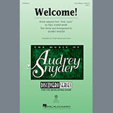 Download Audrey Snyder 'Welcome!' printable sheet music notes, Festival chords, tabs PDF and learn this 3-Part Mixed song in minutes