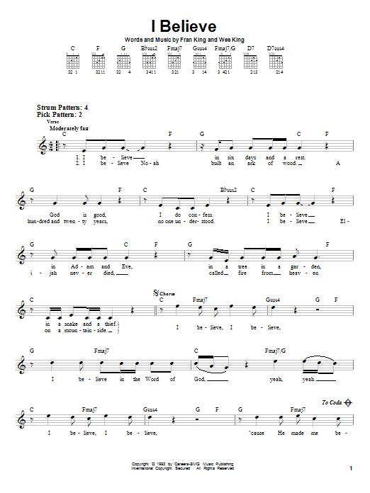 I Believe sheet music