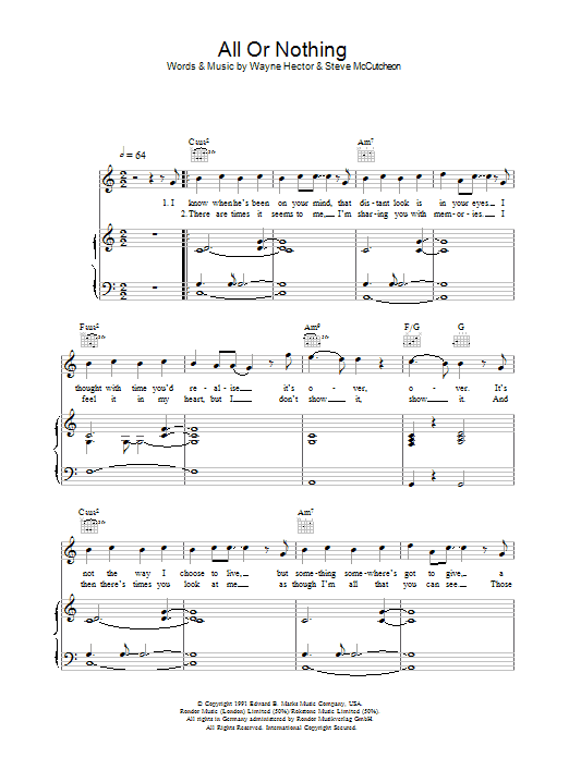 All Or Nothing sheet music