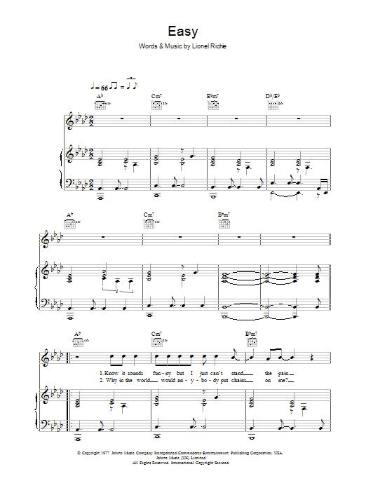 Easy sheet music