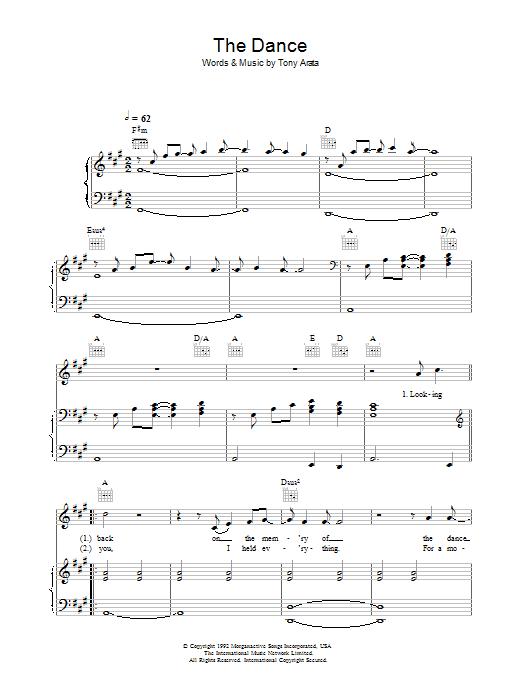 The Dance sheet music
