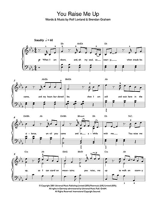 You Raise Me Up sheet music
