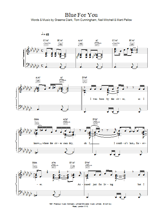 Blue For You sheet music