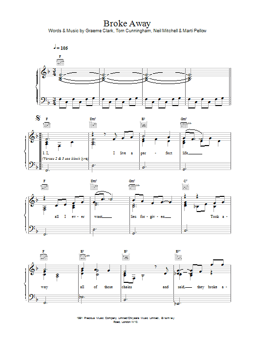 Broke Away sheet music