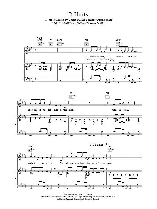 It Hurts sheet music