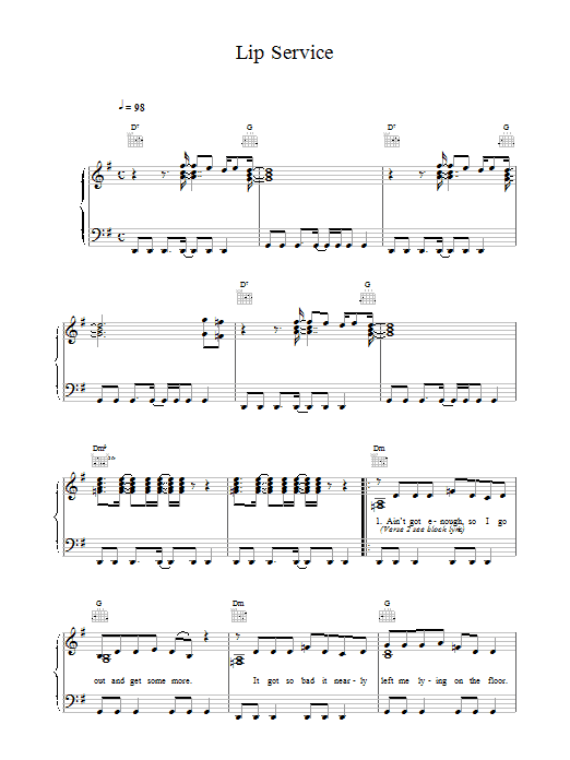 Lip Service sheet music