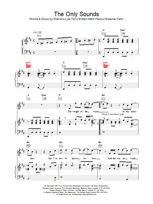 The Only Sounds sheet music