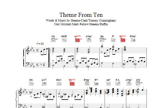 Theme From Ten sheet music
