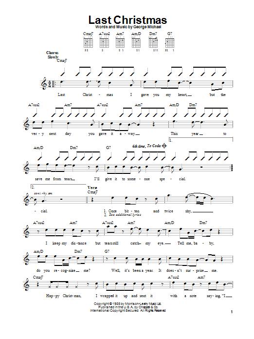 Last Christmas sheet music