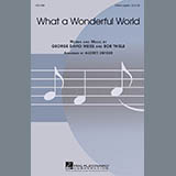 Download Louis Armstrong 'What A Wonderful World (arr. Audrey Snyder)' printable sheet music notes, Pop chords, tabs PDF and learn this SSAA Choir song in minutes